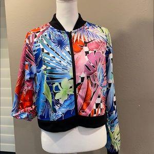 Nike Tropical baseball jacket.  NWOT   Medium